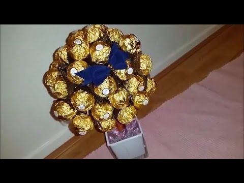How to Make a Ferrero Rocher Chocolate Tree - YouTube