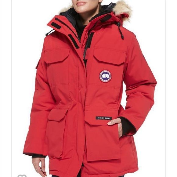 Canada goose winter coat. Brand new with tag Super warm winter coat! Too big for me  sold out everywhere.  Very pretty color ! New with tag! I would do $750 though ️ Canada goose Jackets & Coats Jean Jackets