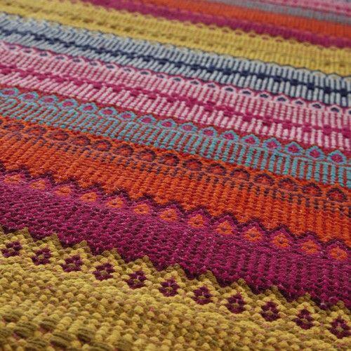 Alfombra trenzada de algodón de colores 230 x 160cm KIGALI