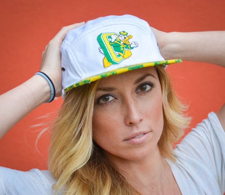 Oregon Ducks 5-panel hat with 'duck sauce' brim