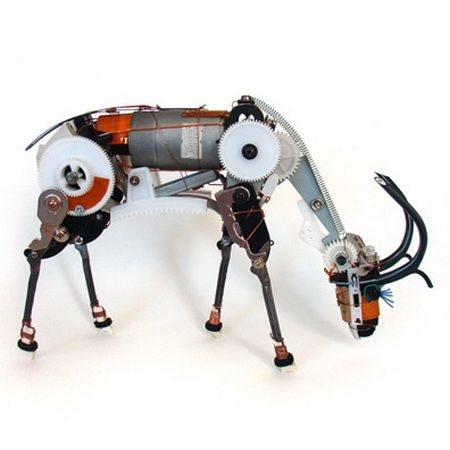 Animals from old electronic parts