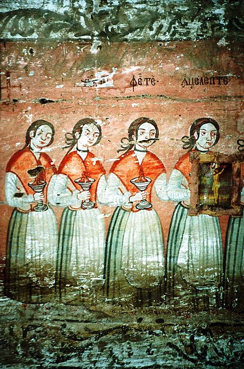 Five wise virgins, Bulgarian fresco