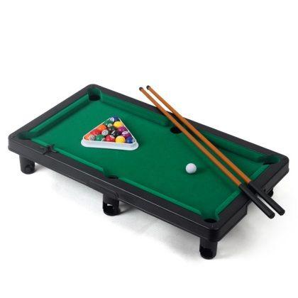 Kids Indoor Miniature Tabletop Pool Table Billiards Starter Kit Educational Toys