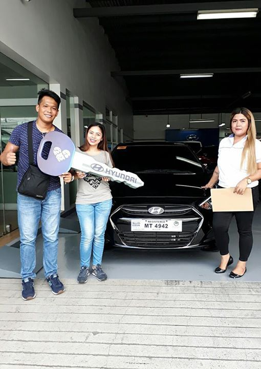 Another proud Hyundai vehicle delivery!  Thank you so much Sir Rodel Lemu and Ma'am Wednesday Bernardo for purchasing 2017 Hyundai Accent 1.6L E 6M/T Diesel (Phantom Black) and for choosing me as your trusted sales agent. ☺ Thank you also for being generous and sa napaka-smooth po na transaction. 😊 Congratulations po and welcome to Hyundai North Edsa family! ❤❤❤  #06/15/17 #Happy&SatisfiedClients #HappySelling #TeamHDS #MoreSalesPlease #ThankyouLord  For inquiries or interested applicants…