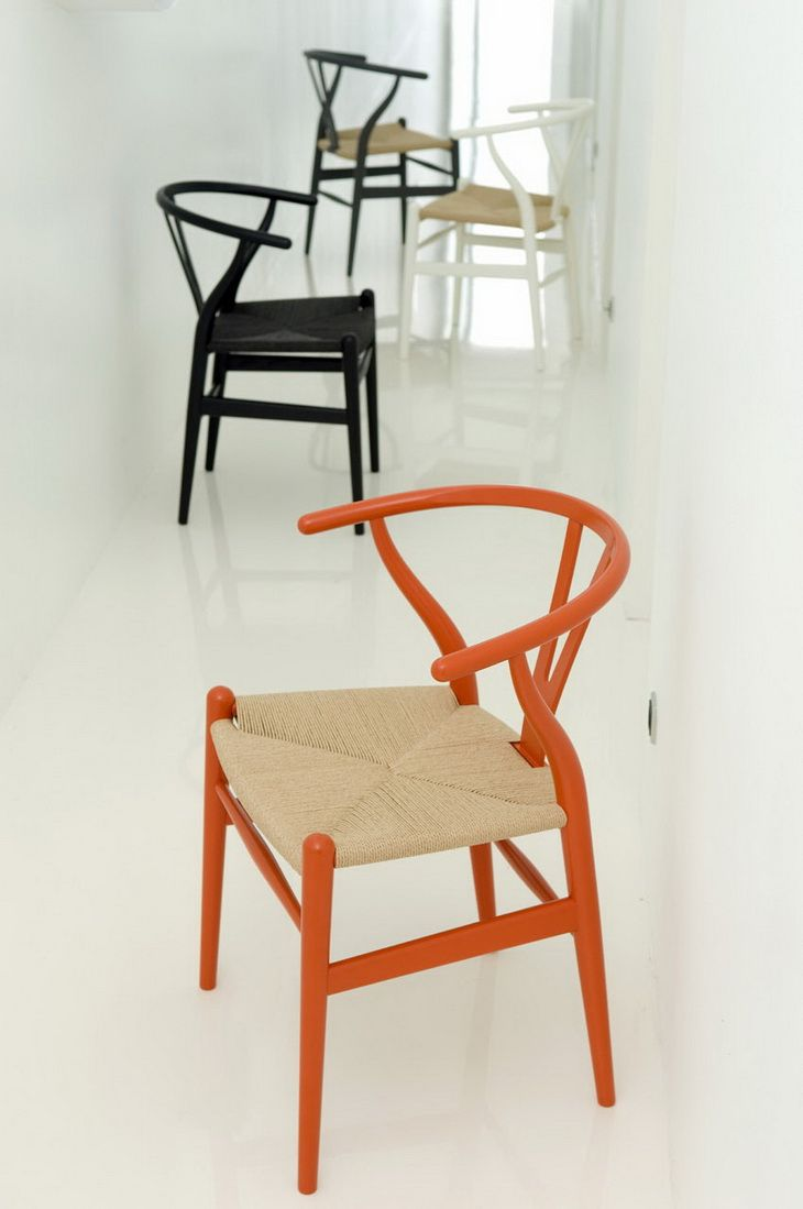 Pin french cafe style chair in red by ines cole on pinterest - Wishbone Chair By Hans J Wegner For Carl Hansen S N Design Milk