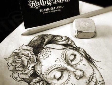 LA CATRINA   SANTA MUERTE MEXICANA.   Ilustración realizada por Javier Jiménez, tatuador e ilustrador en Rolling Tattoo Fuengirola.   Todos los Derechos Reservados.   All Rights Reserved. #Ilustracion #Catrina #SantaMuerte #Illustration
