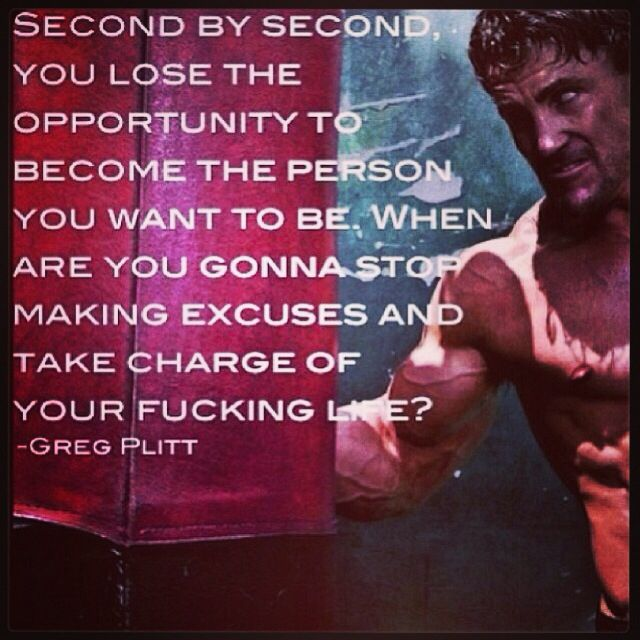 Time is ticking.. Greg Plitt
