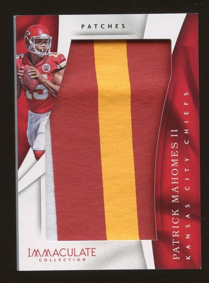 2017 Immaculate Patches Patrick Mahomes Chiefs RC Rookie