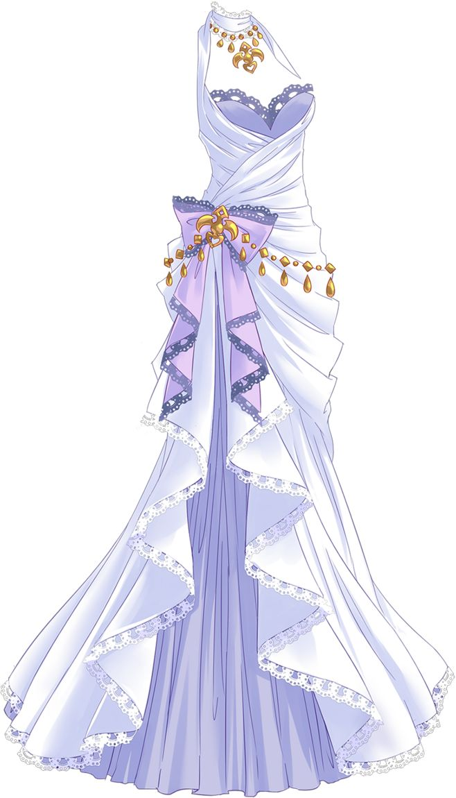 White dress body jewelry purple bow queen princess