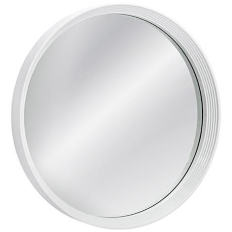 "Bassett Locklyn 24"" Round White Wall Mirror"