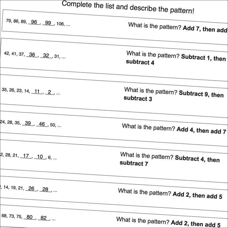 The 25+ best Number patterns worksheets ideas on Pinterest - multiplication and division worksheet