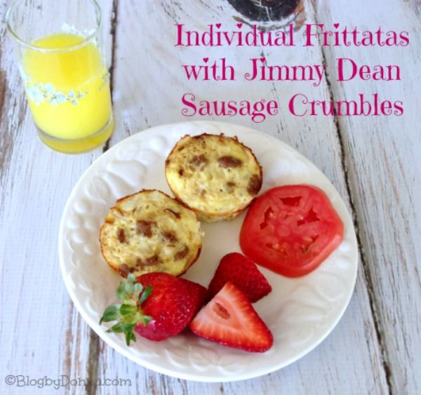 Individual Frittatas with Jimmy Dean Sausage Crumbles Recipe & $50 Target Gift Card #ad #JDCrumbles