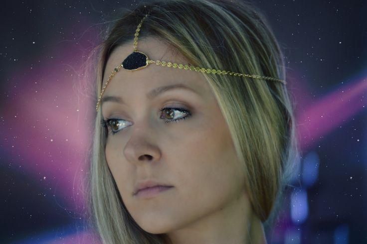 ANDROMEDA /// Lux Divine Druzy Chain Headband /// by luxdivine