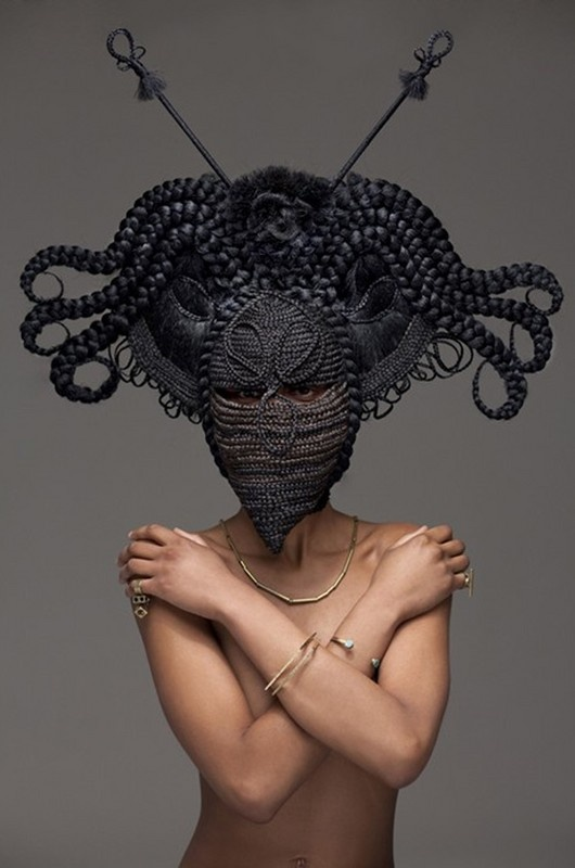 Hair Sculptures by Joanne Petit-Frere