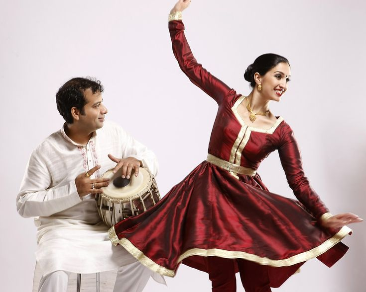 Kathak dance. Bageshree Vaze and husband Vineet Vyas.