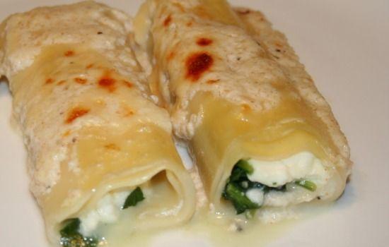 Cannelloni besciamella, ricotta e spinaci - La ricetta di Buonissimo