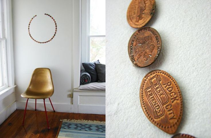 love this idea for those penny souvenirs that my kids love to get... let the design be completed as you get more...