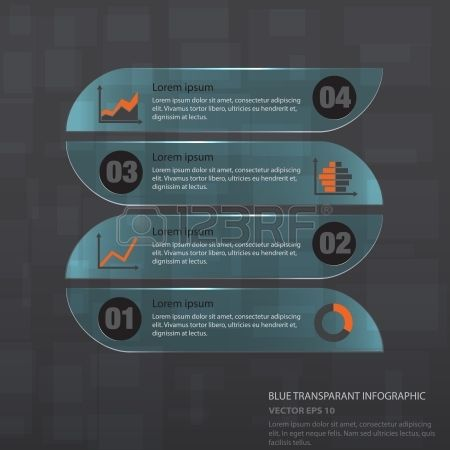 Infographic With Transparent Styles And Blue Colors, Vector ...