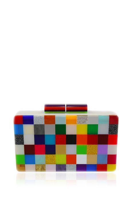 Pixel Multicolor Clutch by Urania Gazelli for Preorder on Moda Operandi