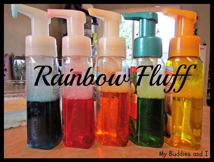 """Refill old soap dispensers for art & science activities - from My Buddies and I ("""",)"""