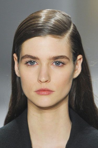 Fall Hair Trends to Try: Stick straight at Calvin Klein