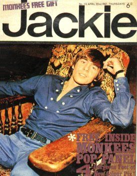 Jackie magazine ~ I used to have posters from Jackie on my bedroom wall.