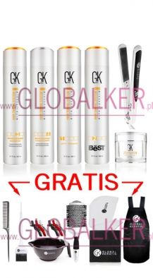 GK Hair keratin The Best set 300ml. free accessories Global Keratin Juvexin