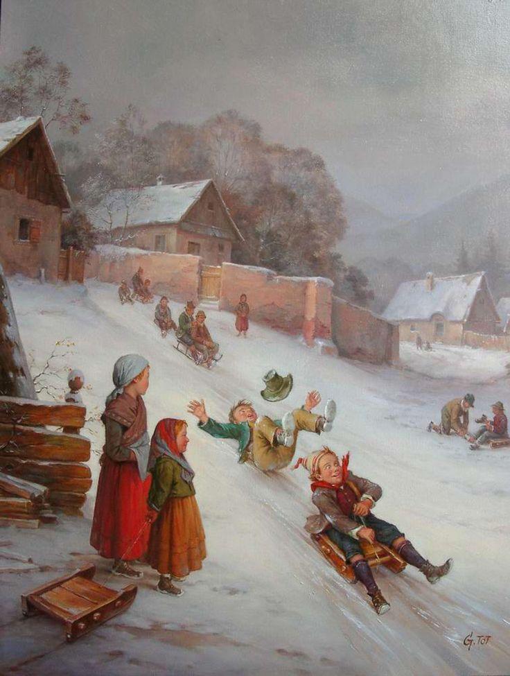 Старые зимние картинки