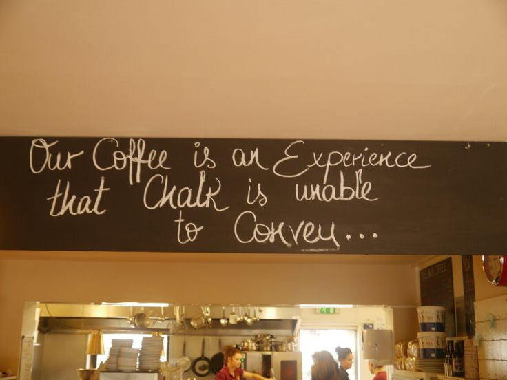 Deepdale Cafe - Our coffee is an experience that chalk is unable to convey ...