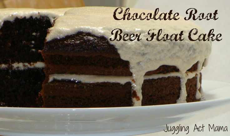 Chocolate Root Beer Float Cake recipe - with livingwellmom.com