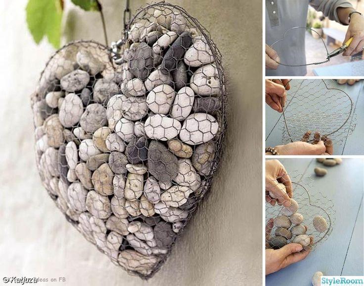 pyssel,hjärta,stenar,dekoration