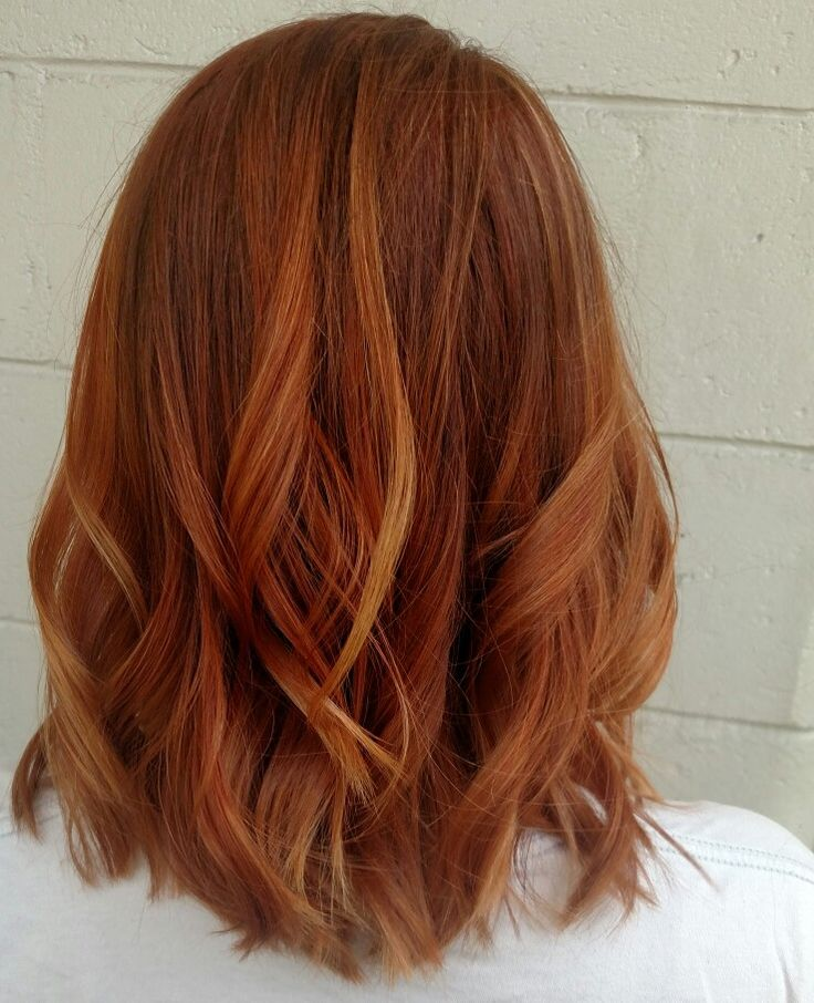 Copper hair. @aredkenstylist on Instagram. Follow me there for more colors. #charlestonhair #bob #lob #wavyhair