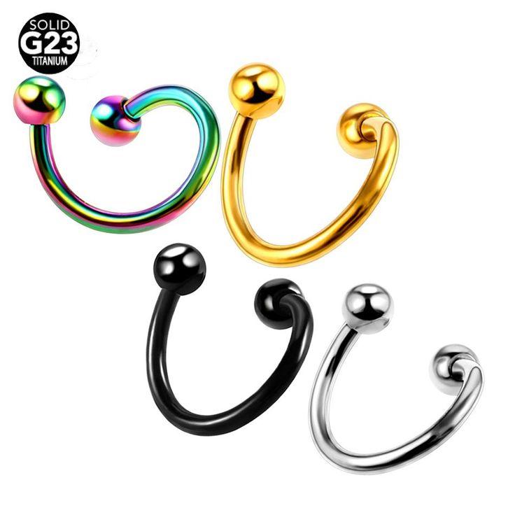 4Pcs/Lot Titanium Eyebrow Rings Ear Eyebrow Twisters Piercings Nose Rings Ear Ca...