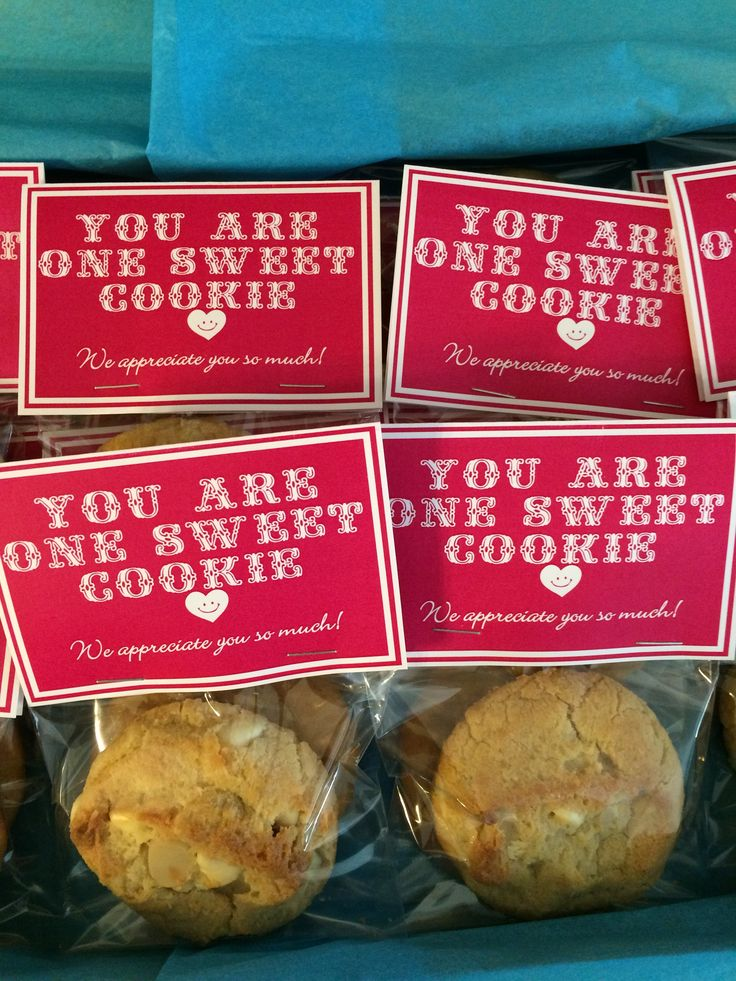 CNA Appreciation Week-- YOU ARE ONE SWEET COOKIE--White ...