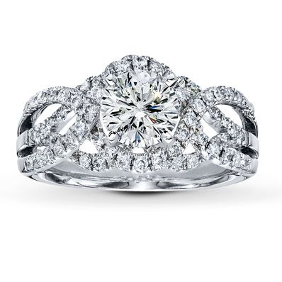 Jared - Diamond Ring Setting 1/2 ct tw Round-cut 14K White Gold