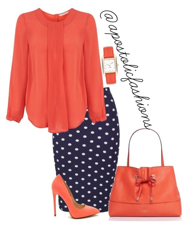 """Apostolic Fashions #1171"" by apostolicfashions on Polyvore featuring Coach and Kate Spade"