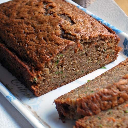 The bread that wanted to be a cake! Apple, zucchini and carrot from Cooking Light.
