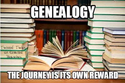 Genealogy: The journey is its own reward ( I feel that this is so true. When you do the work yourself, the tiniest bits of information that you find can be so rewarding!)