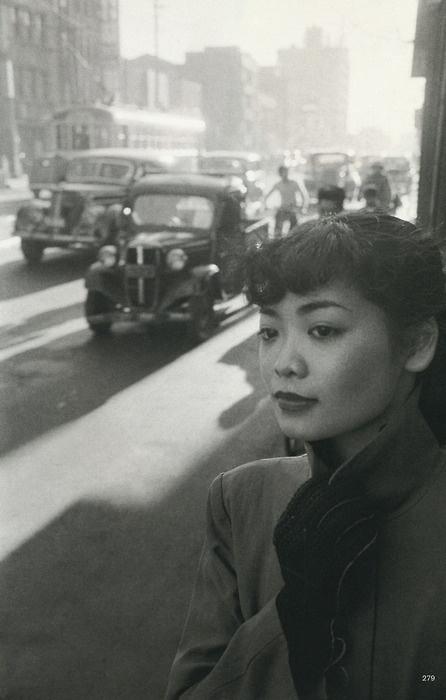 Michiko in Town, Tokyo, Japan, 1951