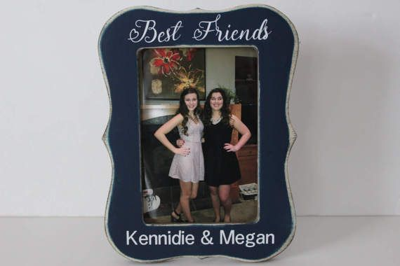 Best Friend Picture Frame Personalized Picture Frame Navy