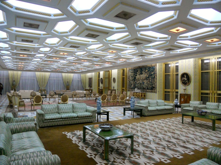 Yamoussoukro, Ivory Coast;  One of the living rooms in the first President, Félix Houphouët-Boigny, old house (not open to the public!).