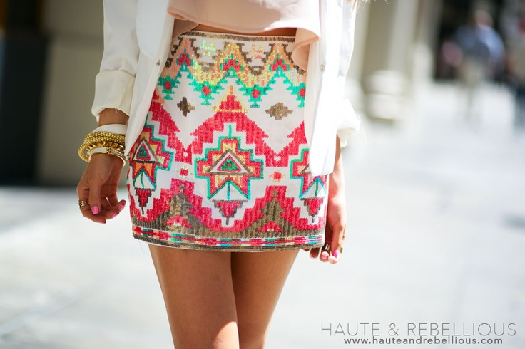 The perfect Aztec skirt