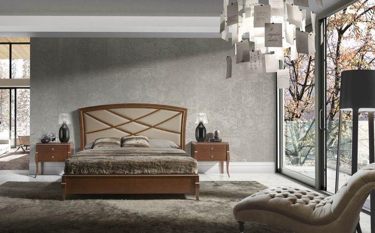Dormitorio Valeria Toscana en roble inglés de Monrabal Chirivella