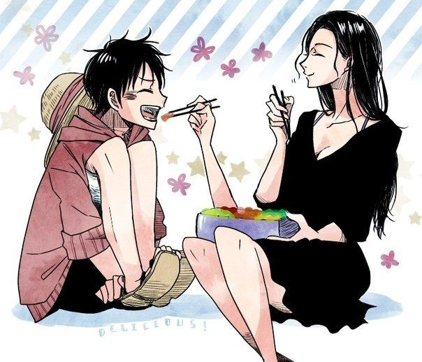424 best one piece images on pinterest - Luffy x nico robin ...