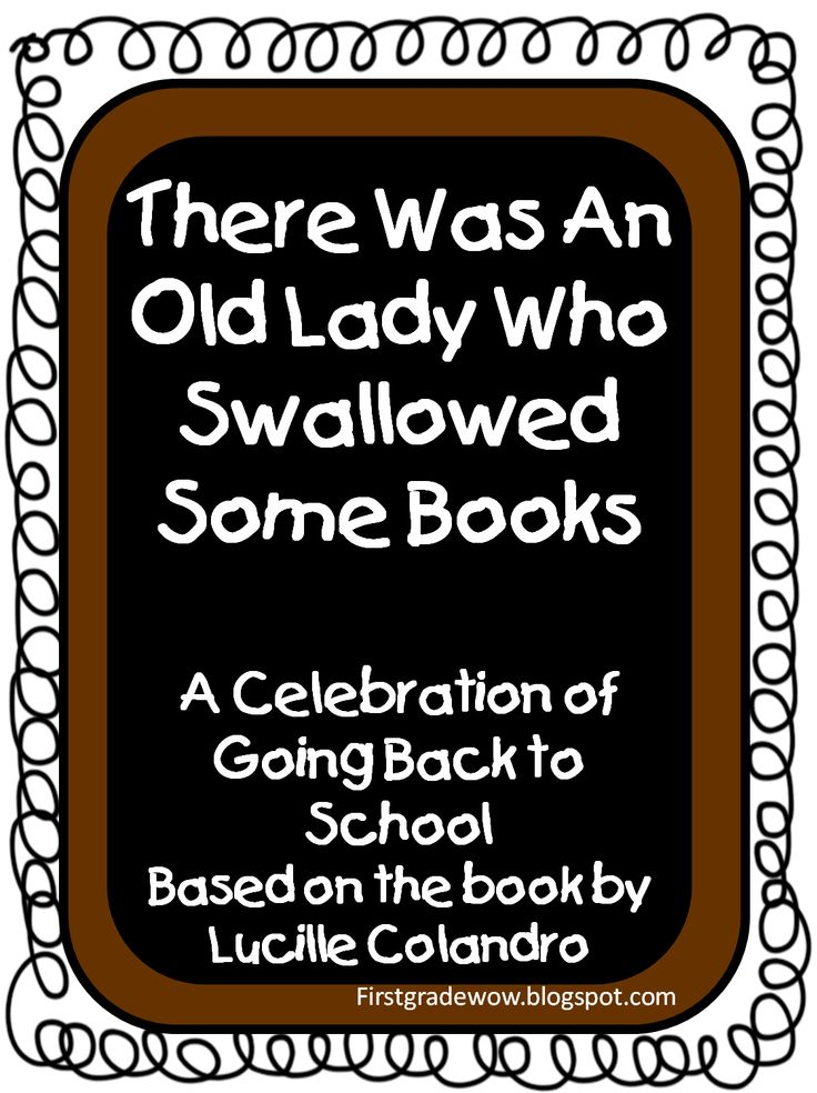 There Was An Old Lady Who Swallowed Some Books Free Sequencing Activity