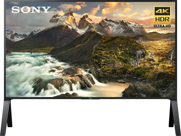 "Sony - 100"" Class (99.5"" Diag.) - LED - 2160p - Smart - 3D - 4K Ultra HD TV with High Dynamic Range - Black"