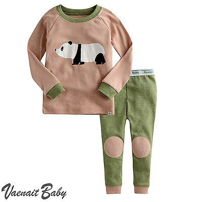 "2Pcs Vaenait Baby Infant Animal Toddler Girl Boy Clothes Sleepwear Pajama""Zoo"""