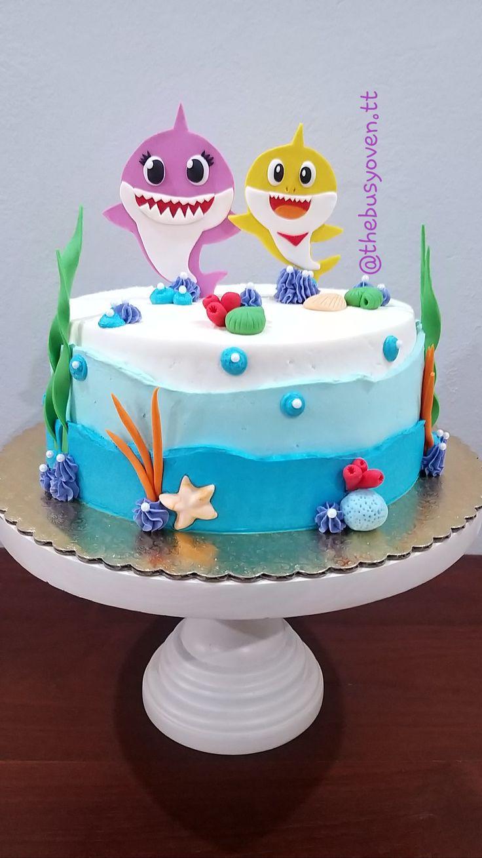Baby shark cake buttercream cake cute baking baby girl
