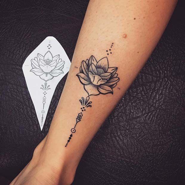 45 Pretty Lotus Flower Tattoo Ideas for Women