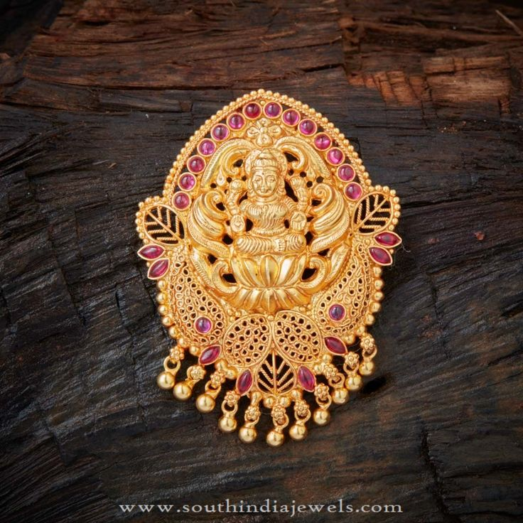 Gold Plated Silver Pendants, Gold Coated Silver Pendants, Gold Plated Silver Temple Jewellery Designs.